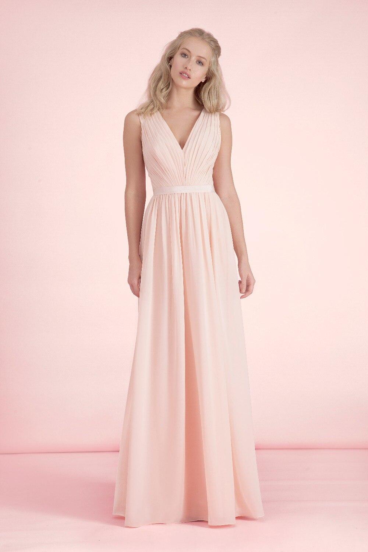 Plus Size Light Pink Bridesmaid Dresses - Boutique Prom Dresses