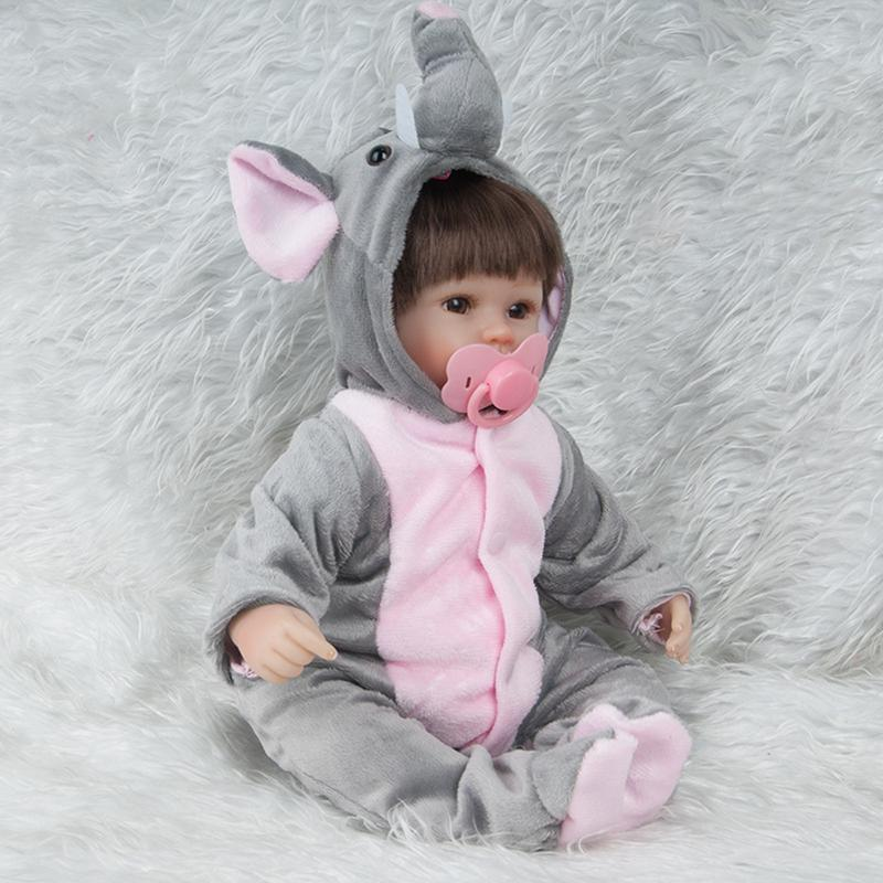 45cm Elephant Clothes Reborn Fashion Baby Simulation Doll Reborn Bedtime Early Education for Princess Children Birthday Gift45cm Elephant Clothes Reborn Fashion Baby Simulation Doll Reborn Bedtime Early Education for Princess Children Birthday Gift