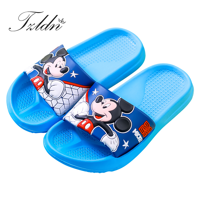 Cartoon Mickey Minnie Design Girls Boys Slippers Princess Kids  Cartoon Lovely Flip Flop Children Indoor Garden Beach Shoes