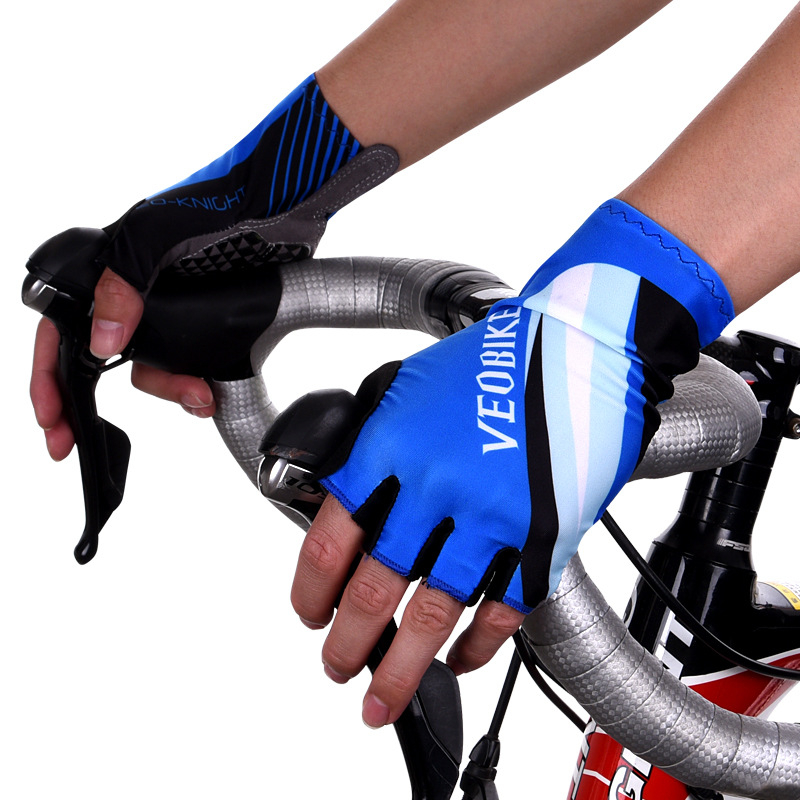 Veobike 2018 Pro Half Finger Cycling Gloves Women Men Non Slip MTB Bicycle Gloves Breathable Road Bike Gloves Guantes De Ciclism in Cycling Gloves from Sports Entertainment