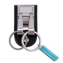 Натуральная кожа Зажим для ремня 2 петли брелок для ключей мужской простой брелок держатель для Подарочный аксессуар для автомобиля