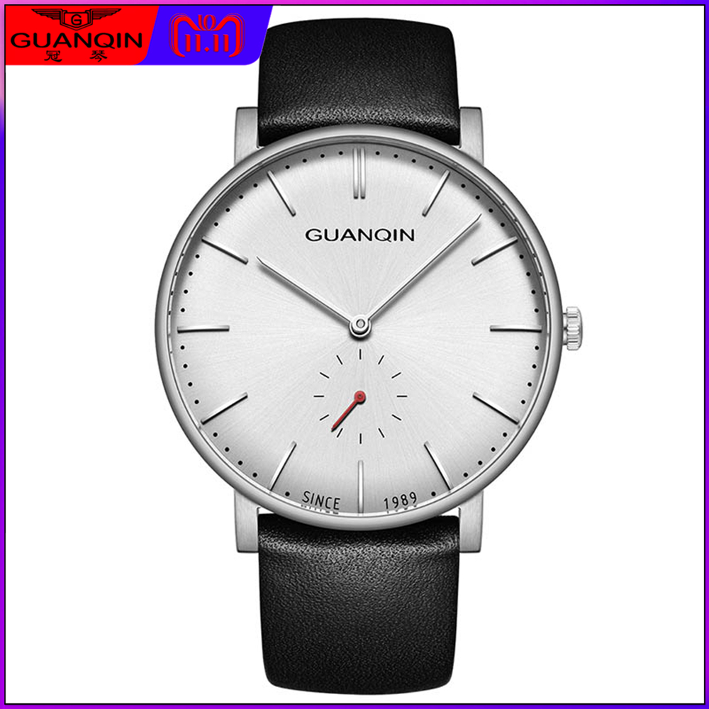 2018 New Luxury Watch Men Top Brand GUANQIN with Small Dial Women Watches Men's Designer Quartz Watch Male relogio masculino watches men luxury top brand guanqin new fashion men s big dial designer quartz watch male wristwatch relogio masculino relojes