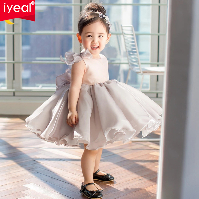 IYEAL Glitz Children Baby Girl Dress Ball Gown Bow Belt Baptism Dress for Girl 1-8 Years Birthday Wedding Party Christening GownIYEAL Glitz Children Baby Girl Dress Ball Gown Bow Belt Baptism Dress for Girl 1-8 Years Birthday Wedding Party Christening Gown