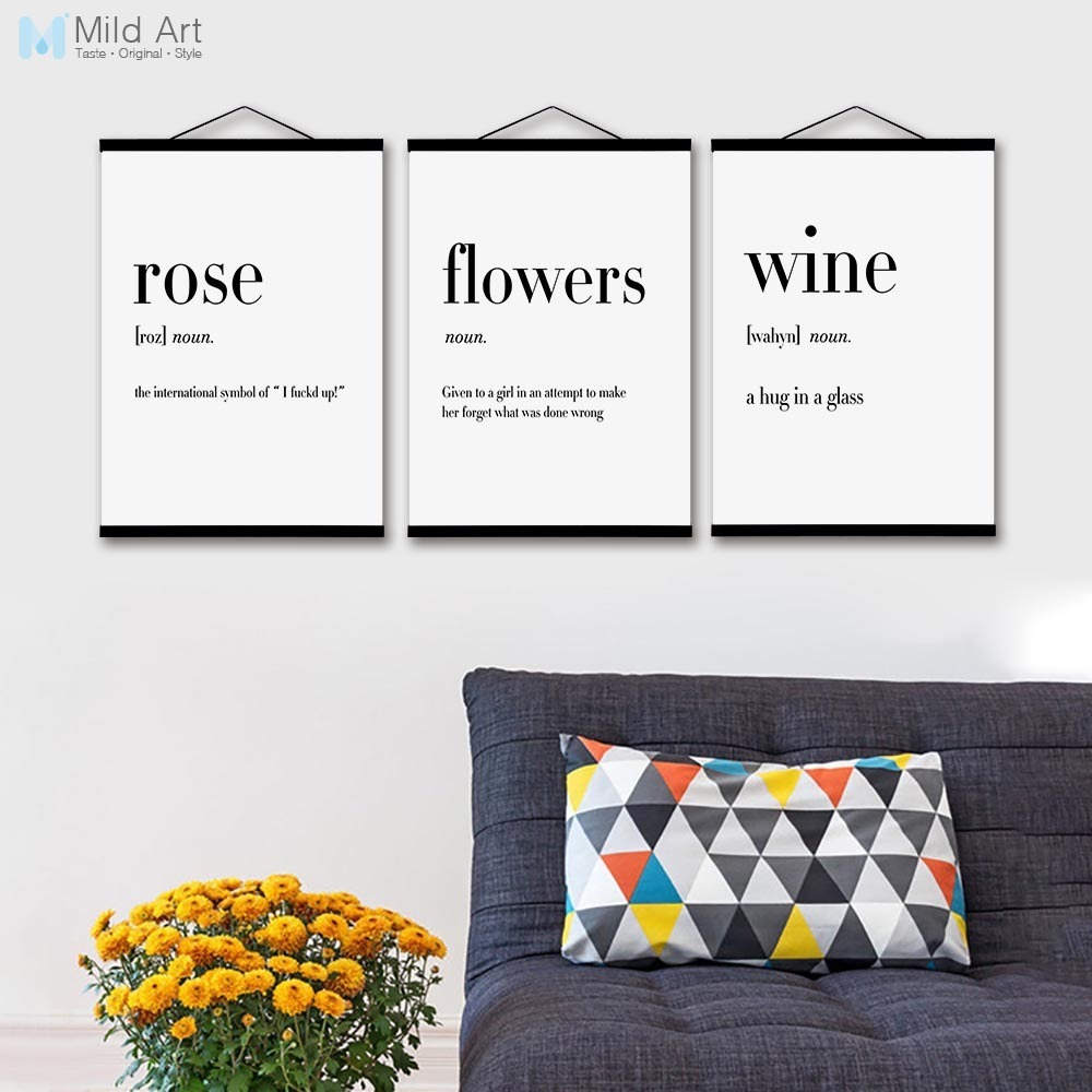 Black and White Rose Coffee Flower Wooden Framed Posters Humor ...