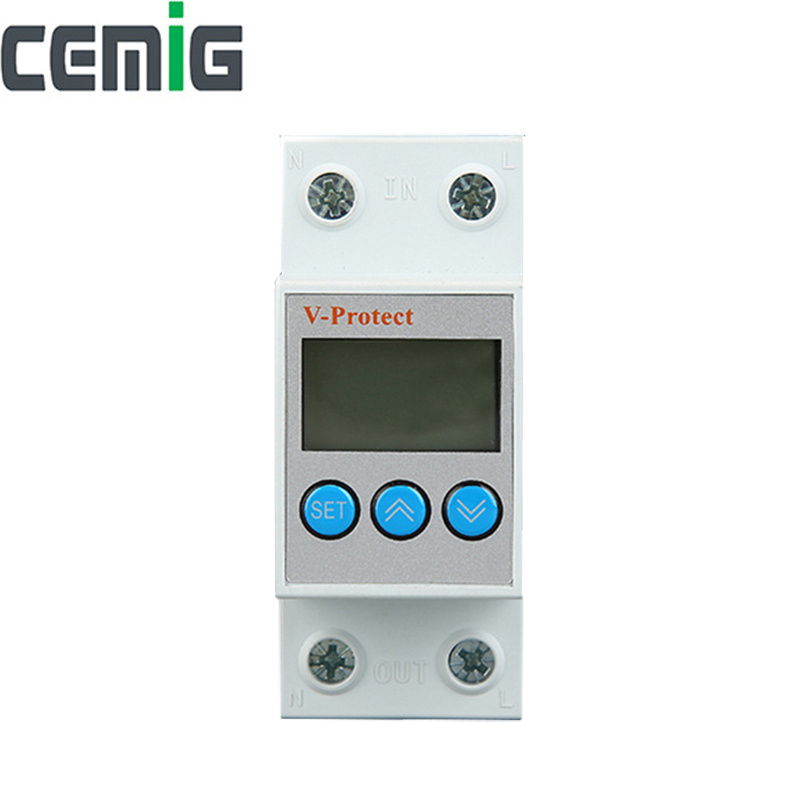 Cemig Automatic Recovery Reconnect Over Voltage And Under Voltage Protective Device Protection Relay LCD Voltmeter MonitorCemig Automatic Recovery Reconnect Over Voltage And Under Voltage Protective Device Protection Relay LCD Voltmeter Monitor