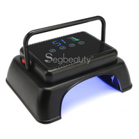 64W Nail Dryer LED Lamp For All Gels 32 Leds Lamp for Nail Polish Cure Machine with Auto Sensor Salon Manicure Tools_Black