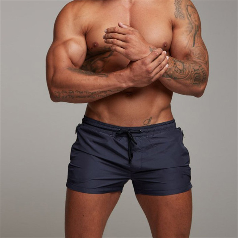 2020 Summer Swimwear Men Swimsuit Swimming Trunks Boxer Short Sexy Mens Swim Briefs Beach Shorts Surf Board mayo Wear sunga Suit
