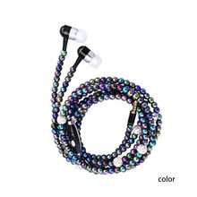 8 Colors Pearl Necklace Headset Wire Control Sports Stereo In-ear Earphone Universal For Smart Phone High Quality Volume(China)