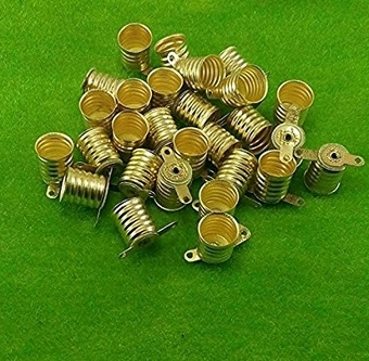 50pcs Copper Alloy E10 Lamp Bases For Physical Experiment Light Bulb