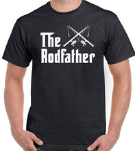 The Rodfather - Mens Funny T-Shirt Rod Father Fathers Day Dad Fish Reel  Tops Tee New Unisex free shipping