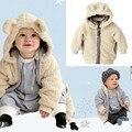 Bebé abrigo del bebé sólido abrigo de invierno con capucha venta de una sola pieza
