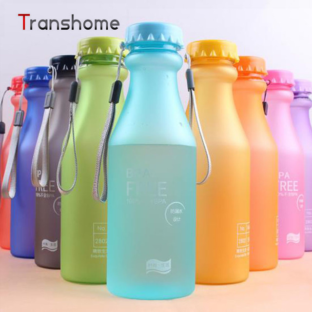 TRANSHOME 550ml My Korean Water Bottle BPA Free Unbreakable Water Bottles Portable Leak-proof Kettles Yoga Gym 10 Colors