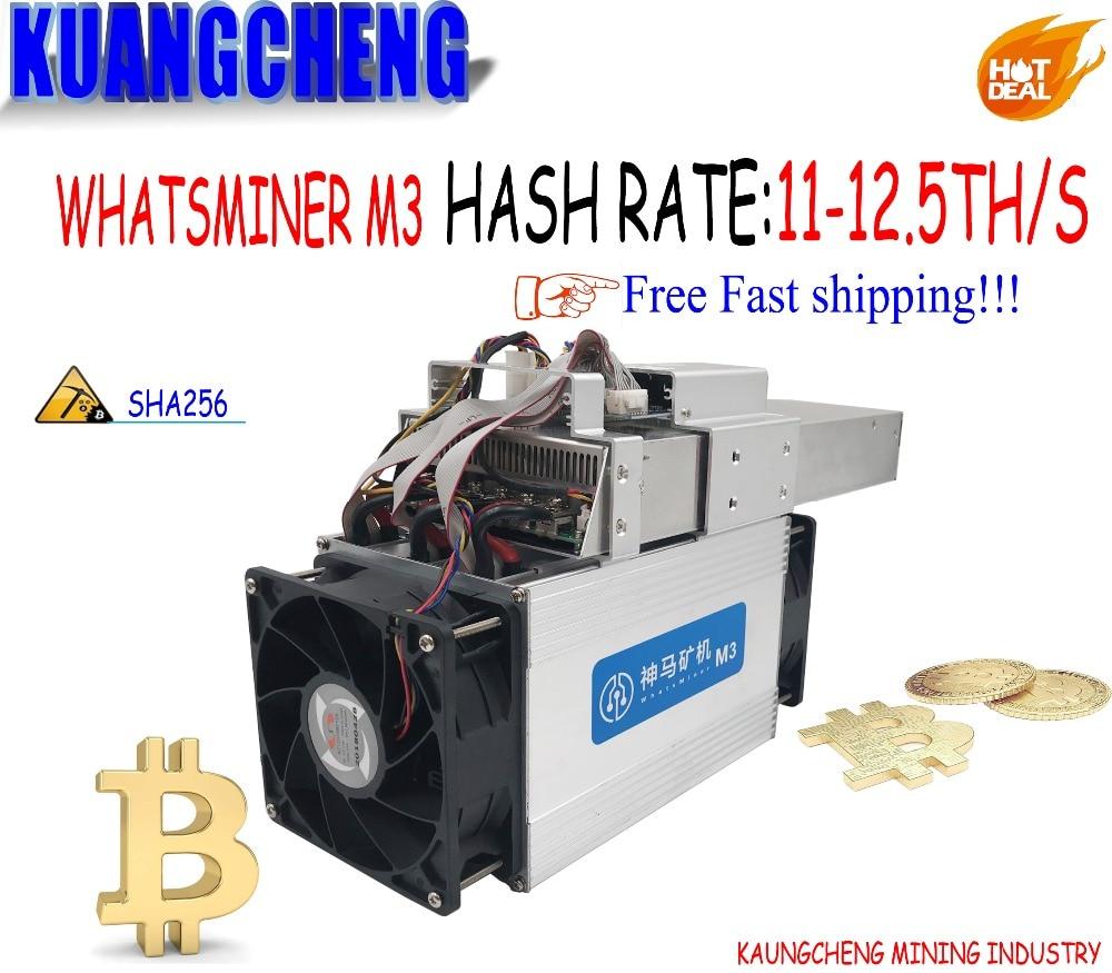 Le vieux Économique Asic Bitecoin Mineur WhatsMiner M3X 12--12.5TH/S Mineur et puissance intégré machine mieux que M3 pour BTC BCH