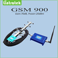 GSM signal booster Lcd display Gain 70dB 900mhz mobile signal Amplifier GSM repeater full set with yagi antenna and whip antena