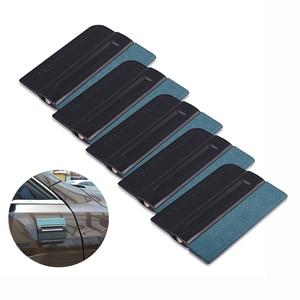 Image 1 - FOSHIO 5 stücke Carbon Faser Vinyl Film Auto Wrap Magnetische Rakel Fenster Farbton Kein Kratzer Wildleder Fühlte Magnet Schaber Auto aufkleber Werkzeug