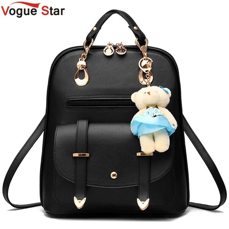 Vogue Star 2019 Women Backpack Leather Backpacks Women Travel Bag School Bags Backpack Women's Travel Bags Rucksack Bolsas LS535