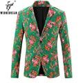 2017 Новое Прибытие Человек Марка Цветочные Пиджаки Мужской Моды Slim Fit Англия Стиль Blazer Куртки Blazer мужской Костюм Homme