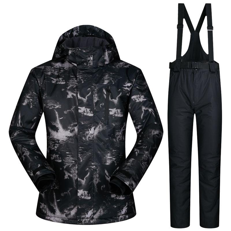 Winter Impression Super Warm Clothing Skiing Snowboard Male Jacket+Pants Suit Windproof Waterproof Winter Wear Men Ski Suit