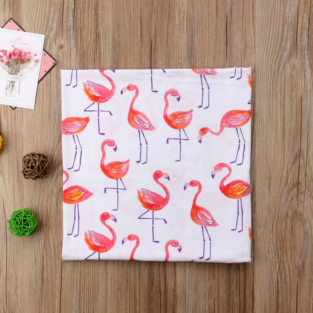 100% Katoen Flamingo Rose Vruchten Print Mousseline Baby Dekens Beddengoed Baby Inbakeren Handdoek Voor Pasgeborenen Inbakeren Deken