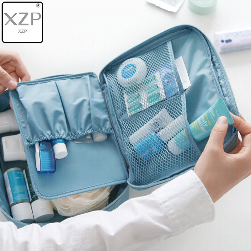 XZP Outdoor Girl Makeup Bag Women Cosmetic Bag Wash Toiletry Make Up Organizer Storage Travel Kit Bag Multi Pocket Ladies Bag