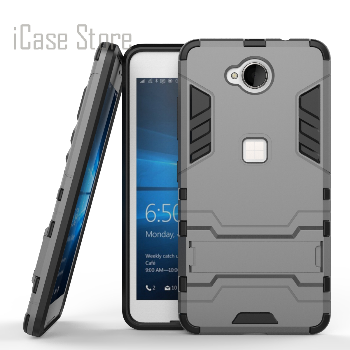 For Microsoft Nokia Lumia 650 Case Heavy Duty Armor Case Hybrid Hard Shockproof Silicone Rubber Phone Cover For Microsoft N650
