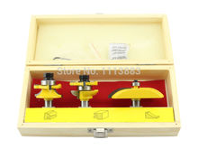 3PCS Cabinet Door Set Round Style Router Bit set, Stile & Rail Set, Raised Panel Woodworking in Wooden Box