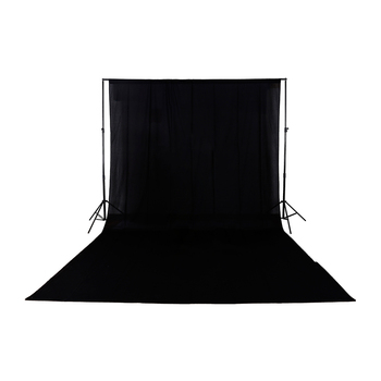 3 x 6m Black Muslin Backdrop 100% Cotton Photography Background,wedding Solid Seamless Cotton Cloth  Backdrop background