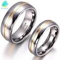 BONISKISS кольцо из карбида вольфрама для влюбленных пар, обручальные кольца на годовщину, 6/8 мм, Ювелирное кольцо для влюбленных - фото