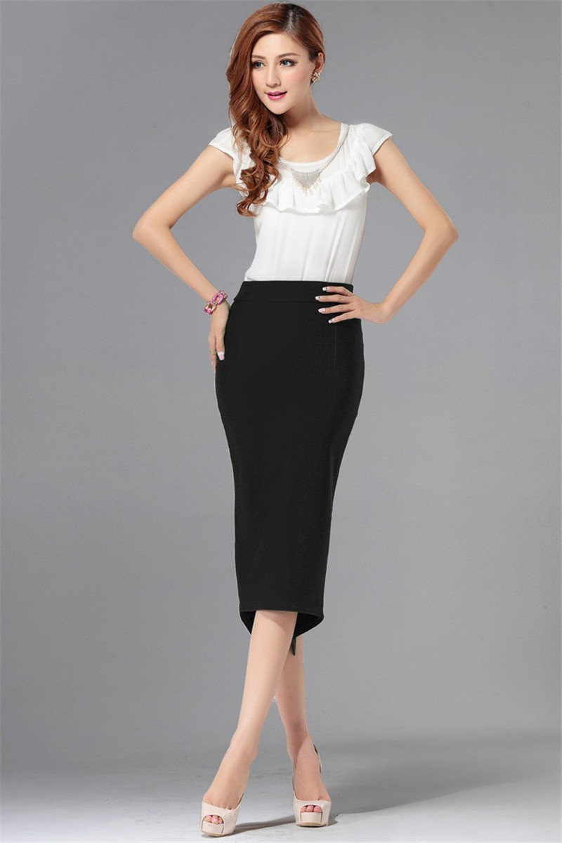 Aliexpress.com : Buy 7XL Plus Size Office Black Midi Pencil Skirts ...