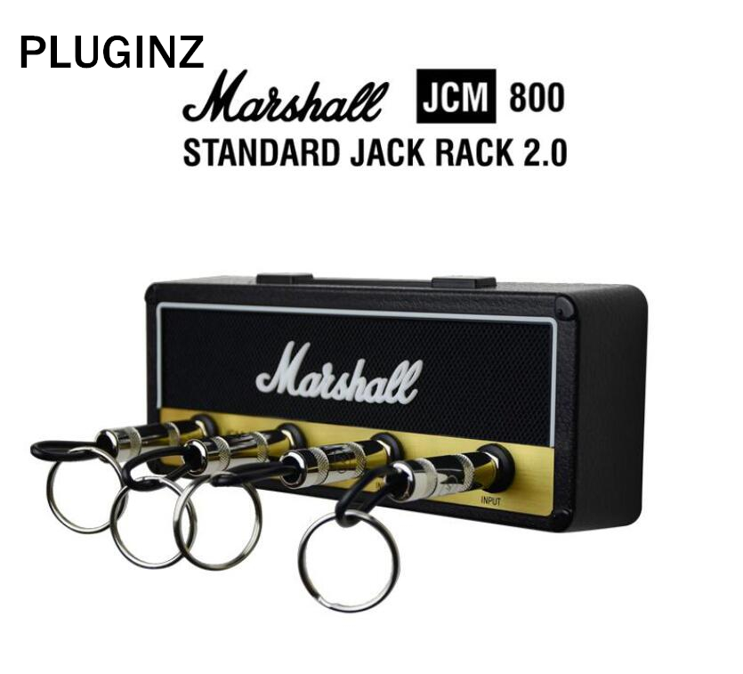 Pluginz Jack II Rack Amp Vintage Guitar Amplifier Key Holder Jack Rack 2.0 Marshall JCM800 Marshall Key Holder Guitar Key plywood