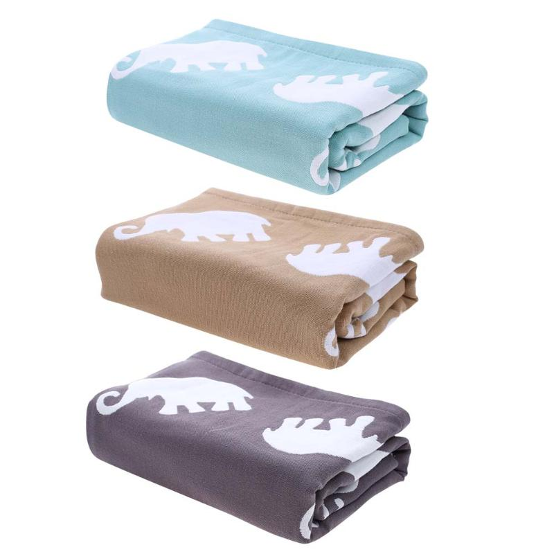 Pure Cotton Soft Warm Baby Bath Towel Newborn Blanket Large Size for Adult Children Cartoon Elephant Print Swim Quilt new hot sales cartoon fox cat knitted blanket baby throws 100% cotton quilt towel soft blankets print colors 110cm 90cm