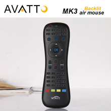 [AVATTO] MK3 Backlit Macphone Air Mouse 2.4G Wireless IR Learning Voice Remote Control mini Keyboard For Smart tv/Android Box/PC