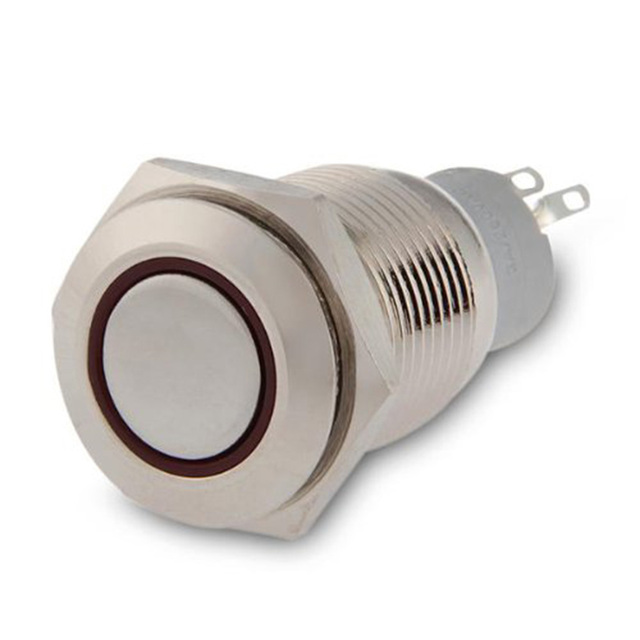 Marsnaska On/Off Latching Push Buttons Switch For Car Auto Boat With Red LED 16mm 12V 3A new
