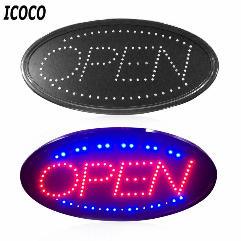 ICOCO LED Open Sign Advertising Light Board Shopping Mall Bright Animated Motion Neon Business Store Billboard with US EU PlugICOCO LED Open Sign Advertising Light Board Shopping Mall Bright Animated Motion Neon Business Store Billboard with US EU Plug