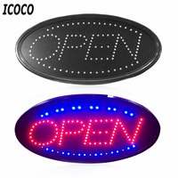 ICOCO LED Open Sign Advertising Light Board Shopping Mall Bright Animated Motion Neon Business Store Billboard with US EU Plug