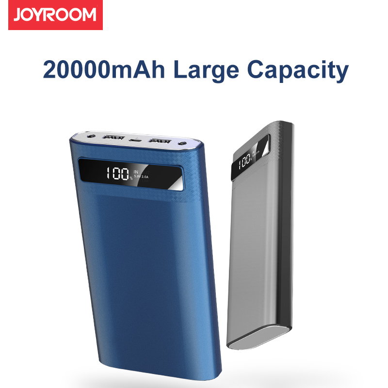 JOYROOM Universal 20000mAh Power bank for iPhone 8 7 6 plus Dual USB Battery Powerbank with 2 LED Flashlight for Samsung HuaWei