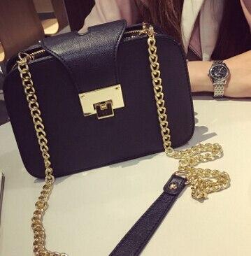 Для женщин модные сумки два слоя сумка старинные популярный мобильный телефон маленькая сумка цепи мешок черный цвет