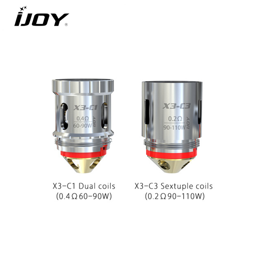 Original IJOY Captain X3 Replacement Coil for Captain X3Avenger subohm tank X3-C1S 0.35ohm X3-Mesh 0.15ohm Coil head 3pcslot