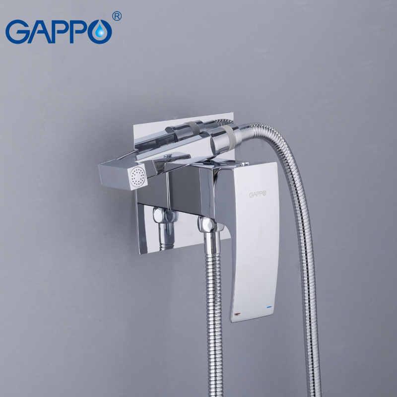 GAPPO bidety mosiądz opryskiwacz do toalety kran chromowany kran bidet bidet łazienkowy prysznic toaleta woda spray anal prysznic