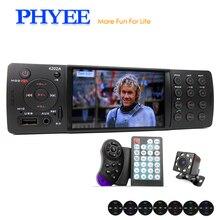 "4 ""Auto Radio Autoradio 1 Din Bluetooth Autoradio MP5 HD Video Player MP3 USB TF Aux Telecomandi In -dash Unità di Testa PHYEE VX-4202ABT"