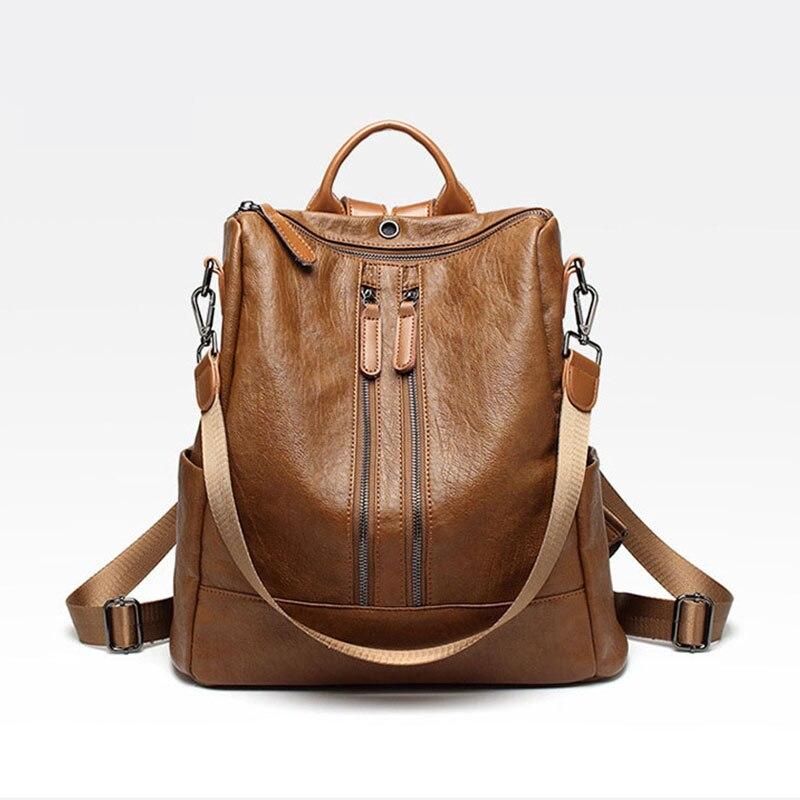 d209db27d Galeria de brown female back pack leather por Atacado - Compre Lotes de  brown female back pack leather a Preços Baixos em Aliexpress.com