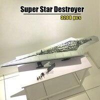 В наличии 05028 Star Plans 3208 шт Execytor супер Звездный Разрушитель модель строительные блоки кирпичи совместимые 10221 Классические игрушки подарки