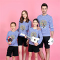 Fmaily Christmas tree striped t shirts plus size matching mother daughter father son clothes outfits mommy and me clothes