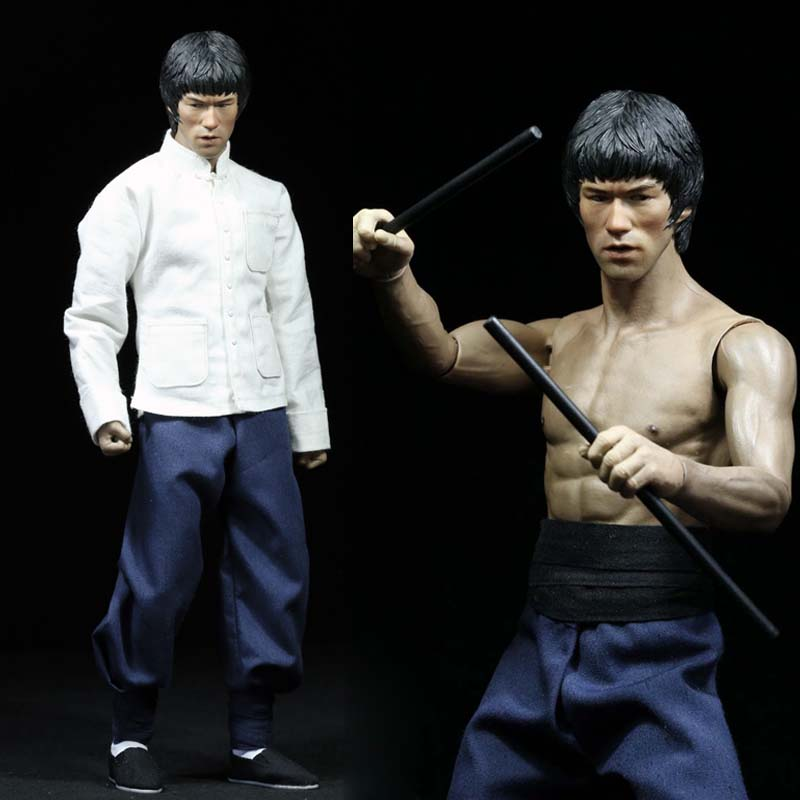 1/6 Scale Bruce Lee Enter The Dragon Kung Fu Clothes Set 75th Anniversary Toy Action Figure Hobbies Collections