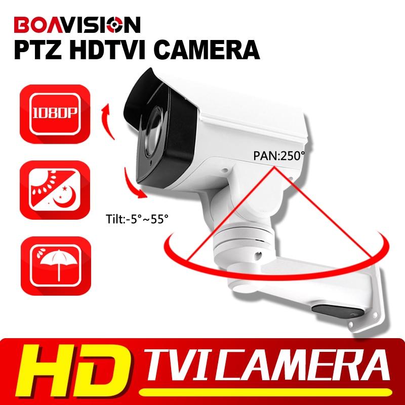 Hot Sell Security HD 1080P TVI PTZ Camera 2MP 6mm Lens Pan/Tilt Rotation Outdoor Bullet Surveillance Security Camera IR 30M hot sell full hd 1080p 2mp outdoor bullet 4x optical zoom 2 8 12mm lens mini ptz bullet hdcvi camera 4pcs leds ir 50m