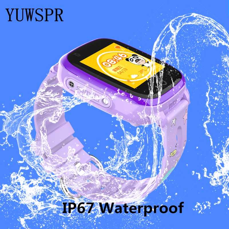 Смарт-часы детские GPS трекер часы 4G IP67 Водонепроницаемый GPS LBS Wi-Fi позиционирование видео Звонок камера Детские умные GPS часы DF33