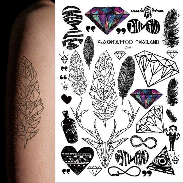 1 caliente multi estilo 24 modelos Taty tatuaje temporal brazo flor