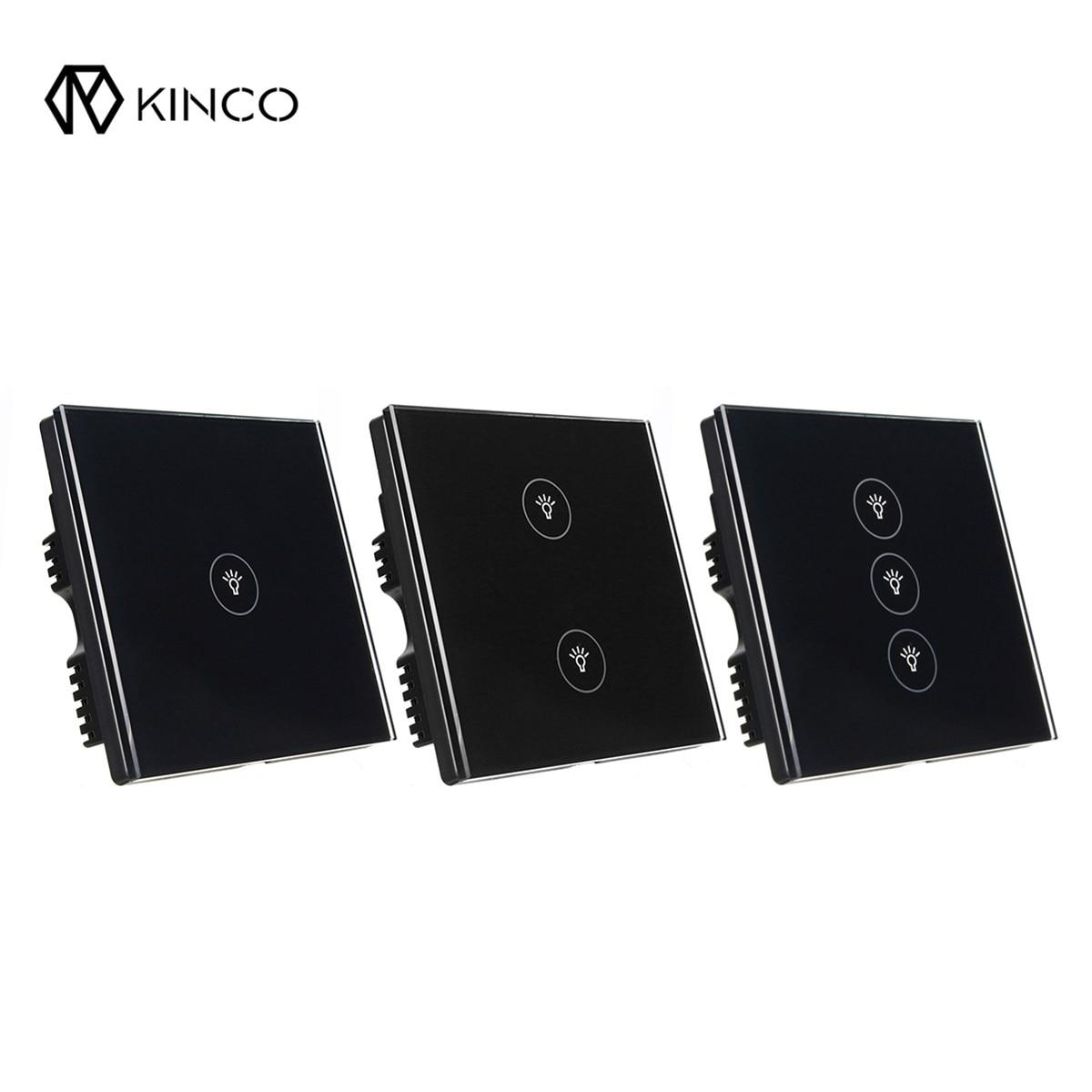 KINCO Black UK 10A 1/2/3 Gang Smart Switch Panel Timing Smar