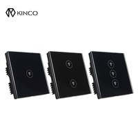 KINCO Black UK 10A 1 2 3 Gang Smart Switch Panel Timing Smart Home APP WIFI