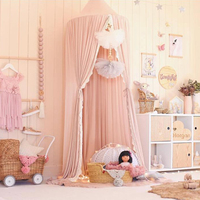 2019 Baby Bed Curtain Crib Canopy Kids Mosquito Net Children Cotton Crib Netting Baby Bedroom Decoration Baby Photography Props